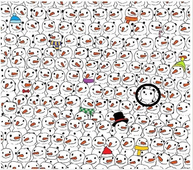لقوي الملاحظة : هل يمكنك إيجاد الباندا خلال أقل من دقيقة ؟ Do